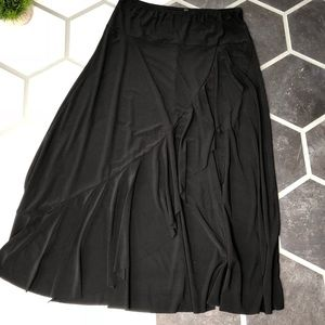 Jason Maxwell faux wrap maxi skirt large